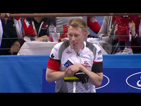 #wmcc2016 Marc Kennedy breaks a stone, Hans Wuthrich to the rescue