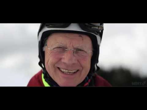 Meet Donald, learning to snowboard, age 73!