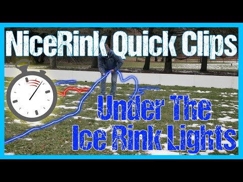 How to Install Lights Under Your Ice // NiceRink Quick Clips // NiceLights