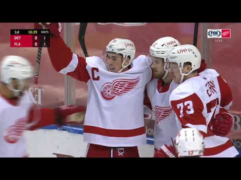 Zadina goes skate to stick for his first goal of the season