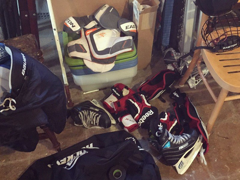 what to do with used hockey gear